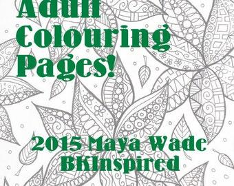 Zendoodle Zentangle Flowers Coloring Page Pdf