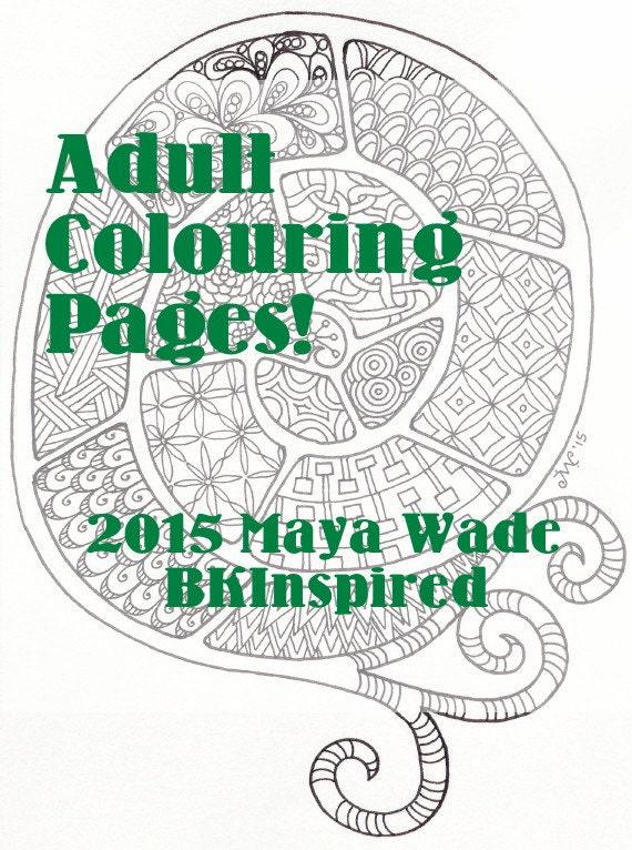 Zendoodle Coloring Page Pdf