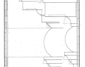 1842 Andrea Palladio Architectural Print, Four Books of Architecture, Plate 26