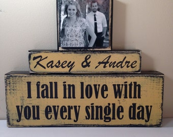Personalized Wedding gift/Decoration Happily Ever After wedding, shower, anniversary, couple gift fall wedding vintage yellow fall in love