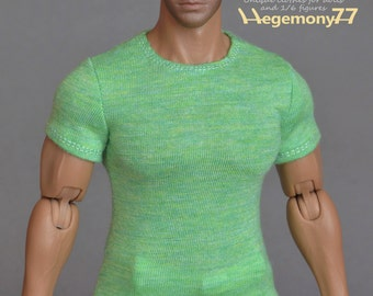 1/6th scale T-shirt for: Hot Toys TTM 20 size bigger / larger male figures and dolls