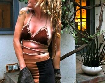 Crochet Wrap Bikini Top. Pheonix. Hippie Style. Halter Top. Hooping. Tribal. Burning Man. Festival Style. Bralette. Gypsy. Handmade. OOAK