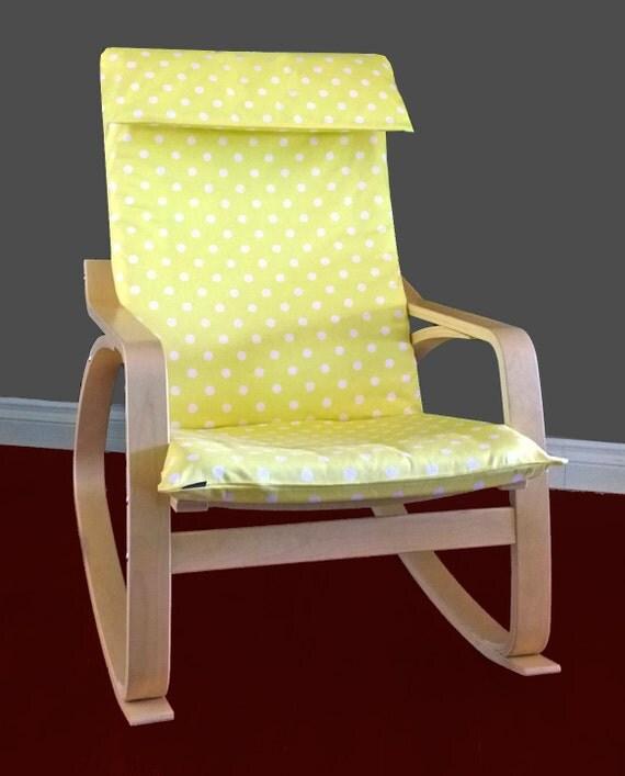 zweite verkauf ikea poang kissen schutzh lle gelb wei polka. Black Bedroom Furniture Sets. Home Design Ideas