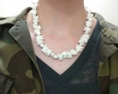 Large Human Teeth necklace - Mens, goth, grunge, halloween, horror, costume