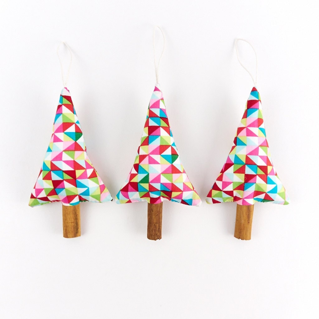 Rustic modern christmas decorations tree by songoftheseam for Modern christmas decorations online