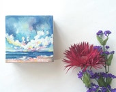 4x4 Abstract Oil landscape, mini canvas Painting Study