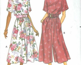 Vintage Pattern Dress Pattern Sewing Pattern Elegant Fashion Sewing Pattern Size 6 8 10 Womens Fashions Butterick Pattern NOS Uncut