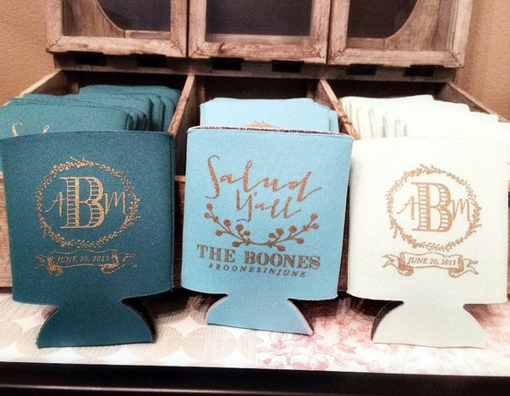 personalized can coolers wedding favors wedding can coolers
