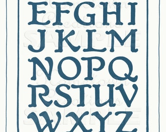 Vintage French Letters Reproduction - Boy or Girl Room- Decorative - Alphabet Print - 11x14