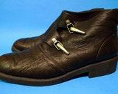 Vintage 90s Mens Size 9 10 Gothic Steampunk Work Hipster Indie Costume Ankle Boots
