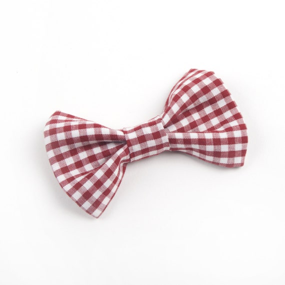 Marsala Gingham Bow Tie Burgundy Gingham Bow Tie By Dappergent