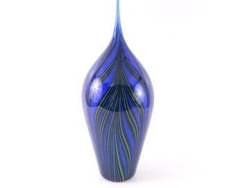 Blue Blown Glass Sculpture