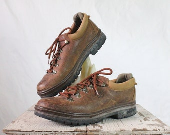 Vintage Timberland Rustic Leather Hiking Boots 9.5