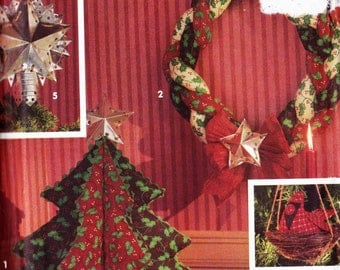 PATTERN Simplicity 8103 Christmas Wreath Tree Skirt Star Garland Vintage Uncut
