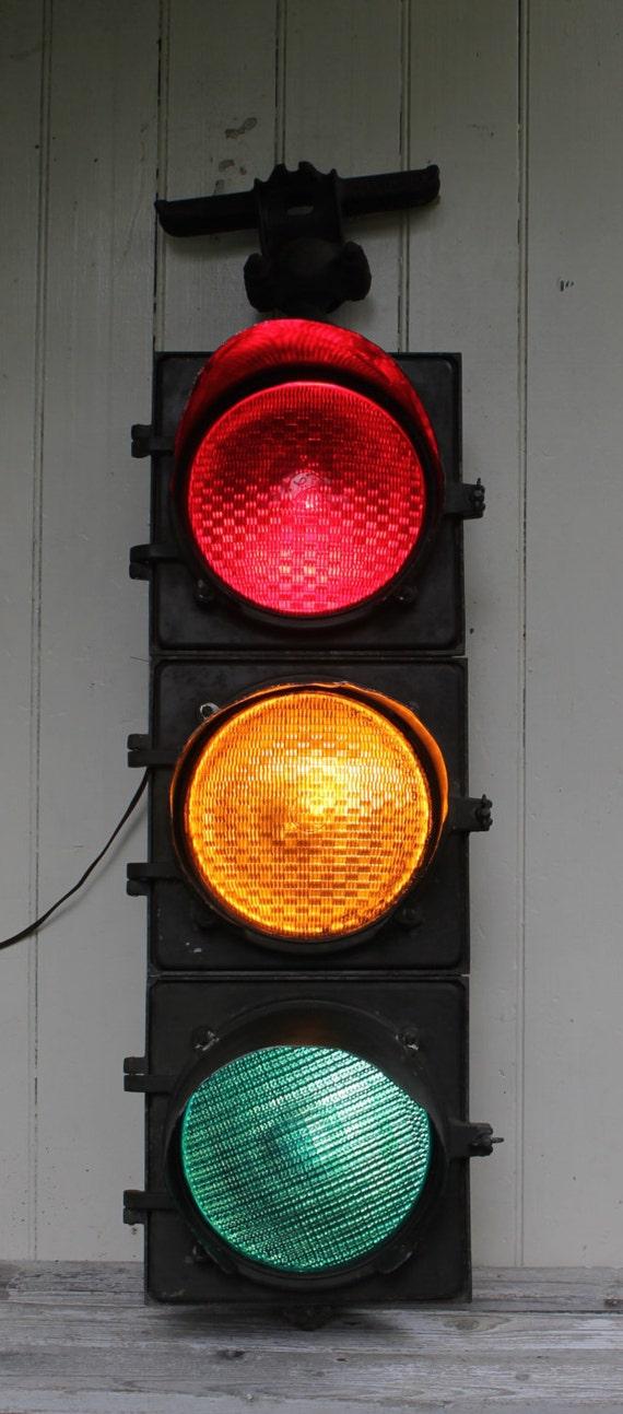 Vintage Working Ge Traffic Light Schenectady New York