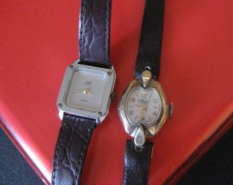 Vintage Villereuse 17 jewel watch and Jaz watch.  Lot of 2.