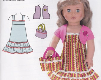 18 Inch Doll Clothes Pattern Simplicity 2108 Uncut