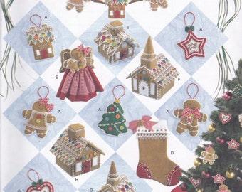 Gingerbread & Christmas Decor Pattern Simplicity 2545 Uncut