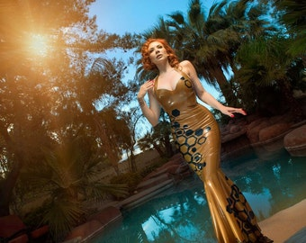 SAMPLE Sale: Queen Bee Latex Gown - Medium