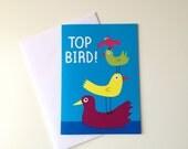 Funny Birthday card, Best Friend Birthday card, Mum card, cute top bird card, funny birthday card, sister card, girlfriend card