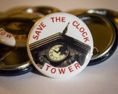 Save The Clocktower |  Back to the Future | 1-inch Button