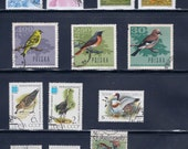 Beautiful Birds Vintage Stamps (1A) - Azerbaijan, Poland, USSR, Hungary, Czechoslovakia - Large Format Postage Stamps