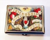 Cigarette box, Cigarette Case, Retro cigarette case, Cigarette Holder, Eye of Providence, Friendship, Love, Truth, Victorian (5168)