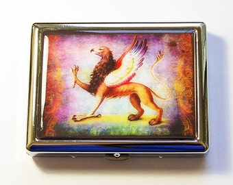Griffin Cigarette Case, Cigarette box, Cigarette Case, Griffin Cigarette Holder, Metal cigarette case, Cigarette Holder, Griffin (5141)