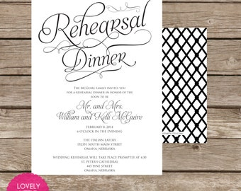 Blakeley Collection Rehearsal Dinner Invitation DIY Printable -  Lovely Little Party