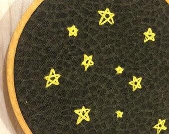 Stars Embroidery Wall Art
