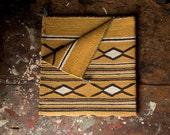 Vintage Textile / 1940's / Original Navajo Saddle Blanket / Wool Throw Rug