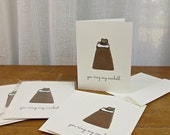 Set of Four You Ring My Cowbell Cards  / Humorous All Occasion Cards / Sleeved A2 Size with Envelopes