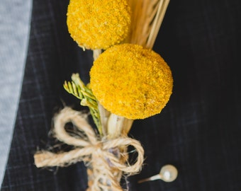 Craspedia (Billy Balls) Boutonniere