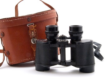 Zenith Binoculars in Leather Case Coated Optics Triple Tested 8 x 30 Field 7.5 No.125132, Safari Binoculars, Gift for Him