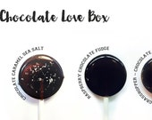 Chocolate Lollipop Gift Box // 4 Unique Flavors // Sweet Gift Box // Fall Wedding Favor // Bridesmaid Gift // Thank You Gift