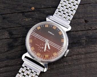 Vintage Pobeda watch, vintage men's watch, soviet mechanical wrist watch, soviet watch ussr cccp mens watch