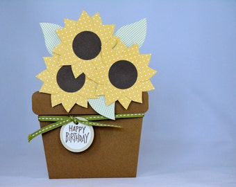 Potted Sunflower Birthday Card