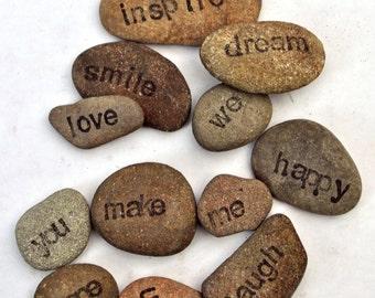 Positive affirmation stones, set of 12