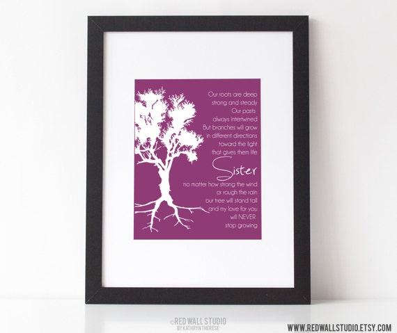 Wedding Gift For Sister Images : Gift for SisterBirthday Wedding Gift for Sister of Bride Roots ...