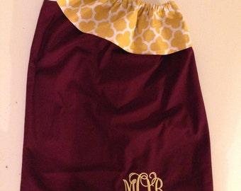 Garnet and Gold One-Shoulder Dress **Sizes 6 months- Girls 10**