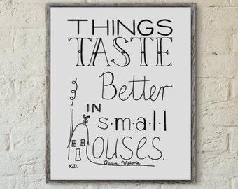 Kitchen Art, Food Quote, Kitchen Decor, Small Kitchen Wall Art, Food Art Print, New Home Art