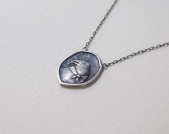 Secret Crow Necklace