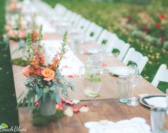Rustic Wedding Table Decor Mason Jar Centerpiece Vase