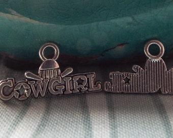 5 Piece Cowgirl Charm for Jewelry Making, Jewelry Supplies, Western Jewelry, Cowgirl Jewelry - C93915