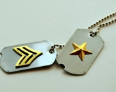 Captain America Steve/Bucky Dog Tag Necklace