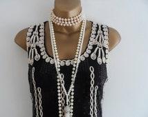 Black, roaring 20s, The great gatsby theme, wedding, batchelorette,charleston, flapper party dress, size UK 12 - 14, USA 10-12, EUR 40-42