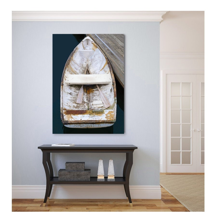 Boat canvas print nautical wall decor large wall art for Big wall decor