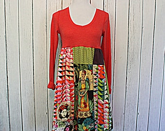 Frida Kahlo Dress / Women's Junior's Frida Clothing / Unique Clothes / Ladies Tunic
