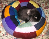 extra plump Ugli Donut bunny rabbit bed for a small sized bunny