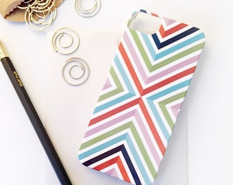 SALE Fruit Stripe iPhone 5 / 5S Case - Barely-There Snap-On Hard Plastic, Ready to Ship - Colorful, Geometric, Modern, Graphic